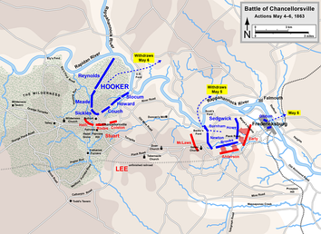Chancellorsville, actions on May 4, withdrawals on May 5 and 6
