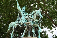 Statue of Charlemagne near Notre-Dame Cathedral, Paris