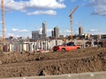 April 7, 2014, soon after the demolition of the Metrodome, pit dig, and start of construction