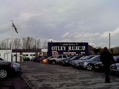 Cross Green rugby ground, the home ground of Otley R.U.F.C.