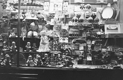A Christmas toy display at a Woolworth store in Montreal, Quebec, Canada, in 1941