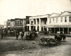 Downtown Huntsville in the 1870s.