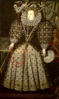 The portrait of Elizabeth I in the hall of Jesus College, attributed to Nicholas Hilliard