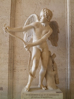 «Эрос». Мраморная копия греческого оригинала скульптора Лисиппа.