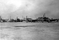 F51s at Kimpo (K14) Airfield, October 1950[5]