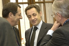Nicolas Sarkozy in 2006 with Cypriot opposition leader Nicos Anastasiades