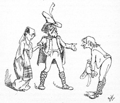 "One of Gilbert's illustrations for his Bab Ballad ""Gentle Alice Brown"""