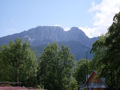 Giewont in the Tatra Mountains; the mountainous south is a popular destination for hikers