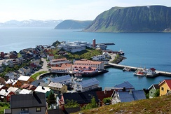 Honningsvåg is the most northerly fishing village in Norway