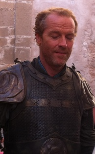 Iain Glen as Ser Jorah Mormont on the set of Game of Thrones
