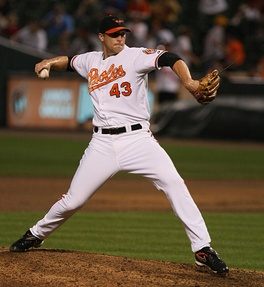 Johnson pitching for the Baltimore Orioles in 2009