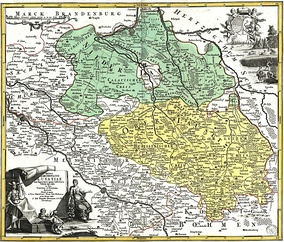 Map of the Lusatias by J.B. Homann, about 1715.