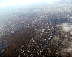 Moscow aerial view