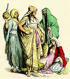 Early costumes of Arab women.