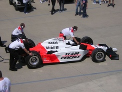 Penske's No. 3 Dallara-Honda at the 2007 Indianapolis 500