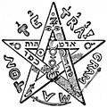 The occultist and magician Eliphas Levi's pentagram, which he considered to be a symbol of the microcosm, or human.