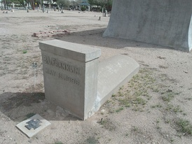 "Grave site of Benjamin Joseph Franklin Franklin located in the ""Rosedale Cemetery"" section of Phoenix's historic Pioneer & Military Memorial Park."