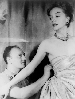 Pierre Balmain and the actress Ruth Ford, photographed by Carl Van Vechten, 1947