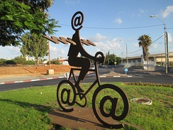 The Internet Messenger by Buky Schwartz, located in Holon, Israel