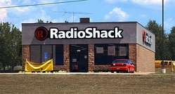 The exterior of a typical free-standing RadioShack store in Texarkana, Texas (2011).