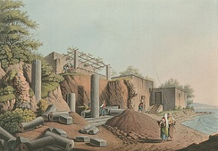 Ancient temple in Salina, 1810