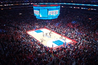 The Clippers hosting the Spurs in Game 5 of the 2015 NBA Playoffs First Round series.