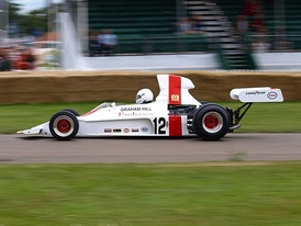 The Embassy Hill Shadow DN1 from 1973 being demonstrated at the 2008 Goodwood Festival of Speed.