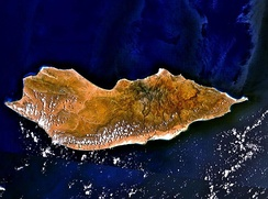 Landsat view over Socotra, a Yemeni island.
