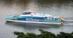 Spirit of Brisbane ferry on the Brisbane River
