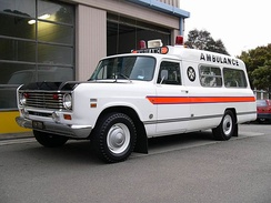 1975 International 200-based ambulance in New Zealand