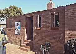Mandela's former home in the Johannesburg township of Soweto