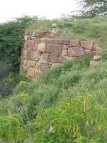 The bastion of Lal Kot fort in Delhi's Mehrauli attributed to the Tomara ruler, Anangpal in c. 736 CE.[39]