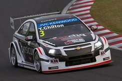Chilton competing in the 2014 World Touring Car Championship