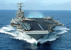 The nuclear-powered aircraft carrier USS George Washington (CVN 73)