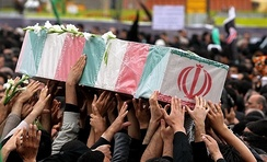 An Iranian soldier's funeral in Mashhad, 2013