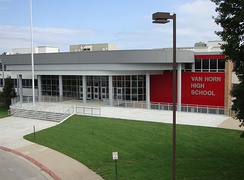 Photograph of Van Horn High School in Independence, MO after the 2011 renovation.