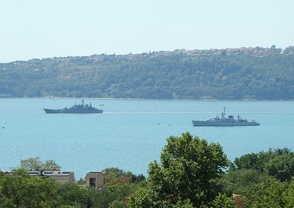 The Bulgarian fleet in Varna, Black Sea.