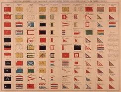 Different flags in Dutch East India