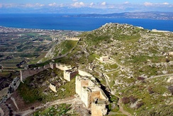 Acrocorinth, looking north towards the Gulf of Corinth.