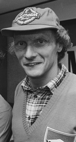 Niki Lauda won his 3rd and final Drivers' Championship by half a point