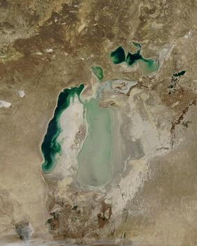 Аральское море в ноябре 2003 года