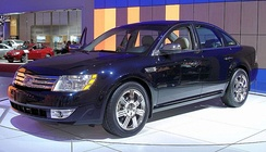 "The 2008 Ford Five Hundred prototype, which was renamed ""Taurus"" upon Alan Mulally's request"