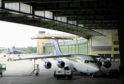 A BAe 146 of Brussels Airlines, Airport Tempelhof, 2004