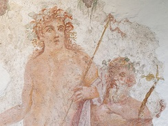 A Roman fresco depicting Bacchus with red hair, Boscoreale, c. 30 BC