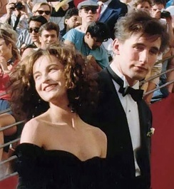 Grey with William Baldwin at the 1988 Academy Awards