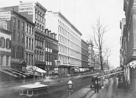 Looking north from Broome Street (circa 1853-55)