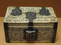 Casket, ivory and silver, Muslim Spain, 966