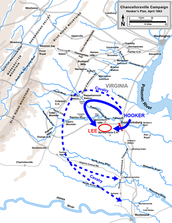 Hooker's plan for the Chancellorsville campaign   Confederate   Union