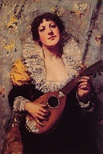 The Mandolin Player, c. 1879. Painted as the mandolin reemerged internationally.