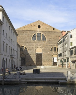 San Lorenzo church in the sestiere of Castello (Venice), where Polo was buried. The photo shows the church as is today, after the 1592 rebuilding.